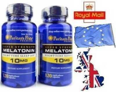10MG x 240 Capsules Melatonin Melatonina INSOMNIA SLEEPING PILLS- SENT