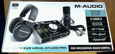M-Track 2x2 Vocal Studio Pro M-Audio Production Package MTRACK2X2SPROUS