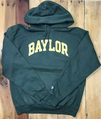 dddb92a7 VINTAGE CHAMPION HOODIE Sweatshirt Baylor Spellout Size Large Green ...