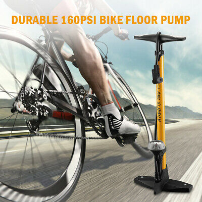 High Pressure Bike Floor Pump 160PSI Bicycle Floor Pump With Pressure Gauge J4A3