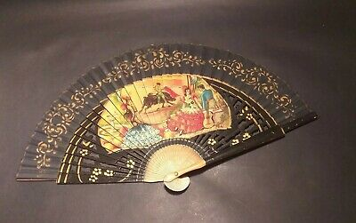 VINTAGE WOODEN Collectable CASA De DIEGO HAND FAN