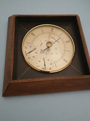 Vintage airguide barometer with temp/humidity gauge home weather station