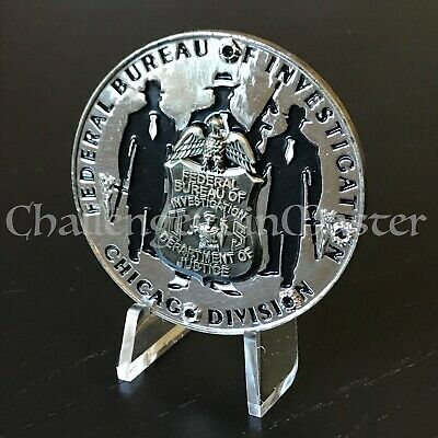 C63 FBI Federal Bureau of Investigation Chicago Division Challenge Coin