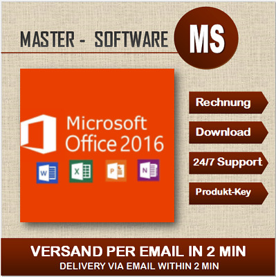 ➞Office Professional Plus 2016 ➞Produkt Key per Email ➞Pro Plus 2016 ➞32&64 Bits
