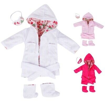 Cute Pajamas Nightgown Clothes Set For 18 inch Our Generation Doll Nice M8X3