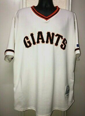 7667723c San Francisco Giants WILLIE McCOVEY Throwback Classics Jersey Sz:54 White -  Used