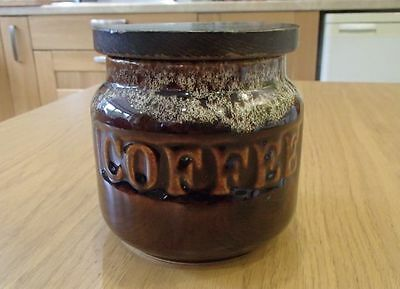 Vintage Retro Fosters Pottery Cornwall Coffee Storage Jar Pot Canister