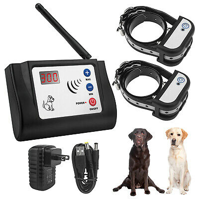 Wireles Dog Fence Electronic Outdoor Wireless Pet Fence for 2 Dogs recharger rec