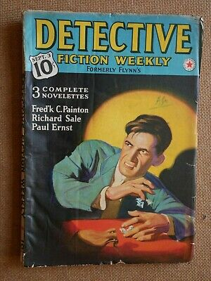 Rare DETECTIVE FICTION WEEKLY PULP 1938 Sept / Richard Sale Paul Ernst