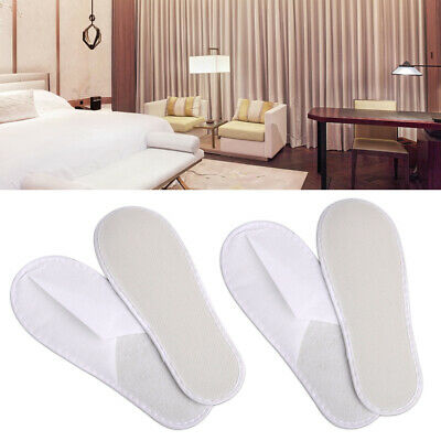 White Towelling Terry Open Disposable Slippers Toe Shoes Hotel Spa Guest Salon