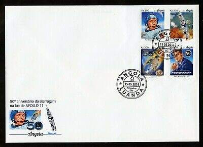 ANGOLA 2019 50th ANNIVERSARY OF APOLLO 11  SET  FIRST DAY  COVER