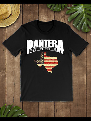 Pantera Cowboys From Hell Texas T-Shirt Black-Navy for Men-Women-Youth