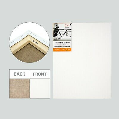 Blank Professional Stretched Artist Linen Canvas Pack, 4 Layers Acrylic Primer