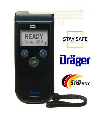 Breathalyser Alcohol Breath Tester Professional DRAGER ALCOTEST 6820 Fuel Cell