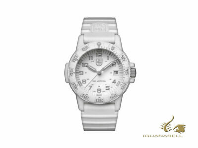 Reloj de Cuarzo Luminox Leatherback Sea Turtle, Blanco, Fibra de vidrio, 39mm