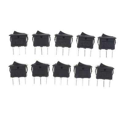10PCS KCD11 3A/250V 3 Pin SPDT ON-OFF-ON 3 Position Snap Rocker SwitchRPS