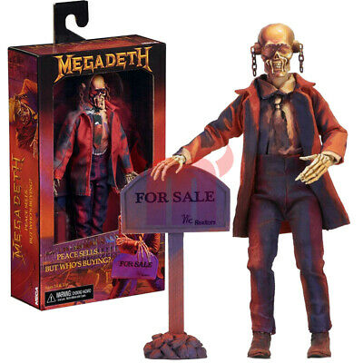 """NECA Megadeth Peace Sells Vic Rattlehead 8"""" Clothed Action Figure 2019 New"""
