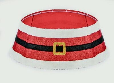Red and White Santa Belt Christmas Tree Skirt - Stand Cover - 64cm