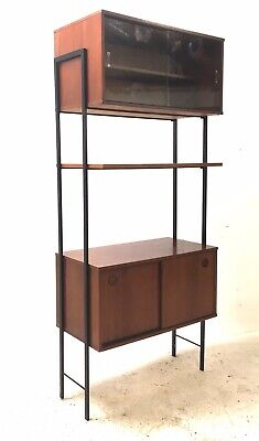 Vintage Retro Mid Century Danish Era Ladderax Style Modular Shelving Wall Unit
