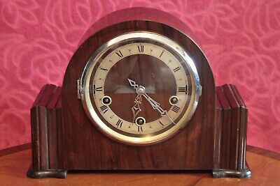 Vintage English 'Enfield' 8-Day Mantel Clock with Westminster/ Whittington Chime