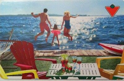 Canadian Tire Gift Card From Canada Family Swimming Bilingual No Value 2016