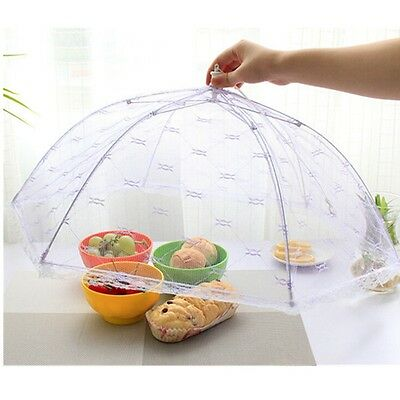 Collapsible Food Cover Protector Up Mesh Fly Wasp Net Party BBQ KitcSC