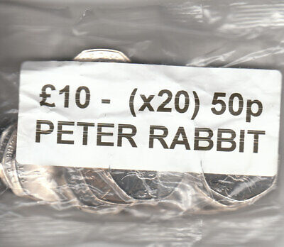 2016 Peter Rabbit 1 x Full Bags 50p x 20 fifty pence Coin Hunt Sealed bags