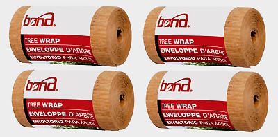 4~ Bond 20' TREE WRAP 350 Brown Support Stretch Prevent Bark Split Insect Rodent
