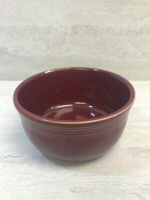 Fiesta HLC Homer Laughlin Cinnabar Red 28 oz Gusto Bowl Small Chip Nick USED