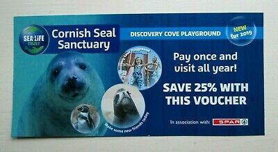 The Cornish Seal Sanctuary Family Discount Voucher, Cornwall Holiday exp 03/2020