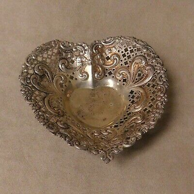 Beautiful Sterling Silver Heart Shape Gorham Candy Dish 966