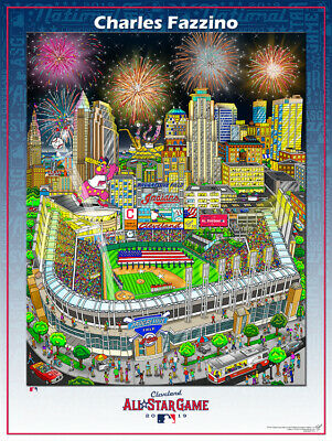 MLB All-Star Game CLEVELAND 2019 Official Event POSTER Print (Fazzino Pop Art)