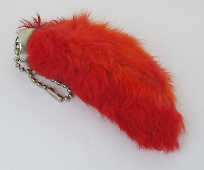 RED Colored Real RABBIT FOOT Lucky Key Chain Keychain Good Luck Free Shipping
