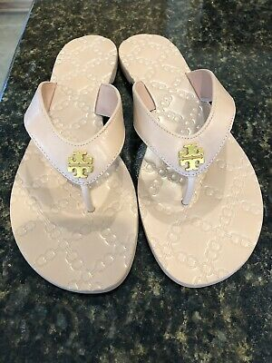 1f3574b60 NWOB ~ Tory Burch Monroe Leather Thong Sandals Light Makeup Size 10 ~$138