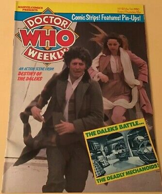 Vintage Dr Who Weekly Comic #21, March 5th 1980, Super Condition