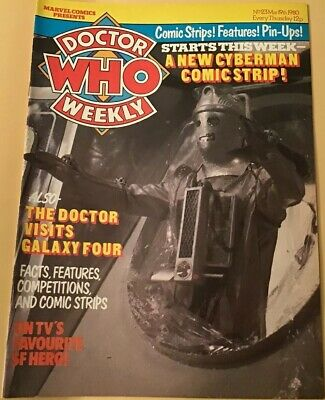Vintage Dr Who Weekly Comic #23, March 19th 1980, Super Condition, Marvel Comics