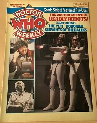 Vintage Dr Who Weekly Comic #25, April 2nd 1980, Super Condition, Marvel Comics