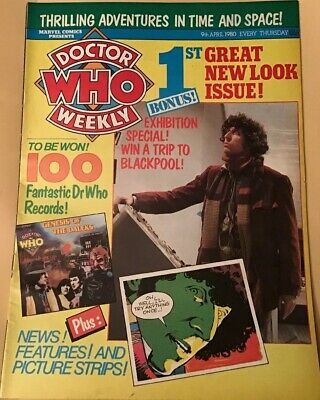 Vintage Dr Who Weekly Comic #26, April 9th ,1980, Good Condition, Marvel Comics