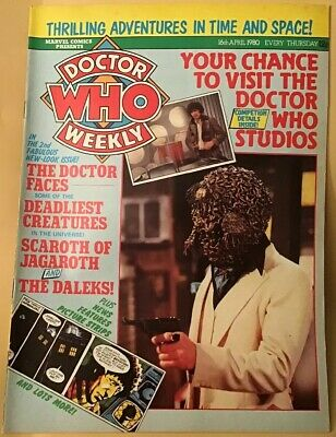 Vintage Dr Who Weekly Comic #27, April 16th 1980, Great Condition, Marvel Comics