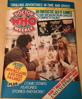 Vintage Dr Who Weekly Comic #28, April 23rd 1980, Super Condition, Marvel Comics