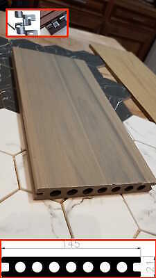 High End Quality Composite decking, Teak wood colour,Each side different texture
