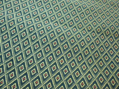 """Geometric Green Gold Table Runner Double Sided - Woven Cotton - 75 X 14"""""""