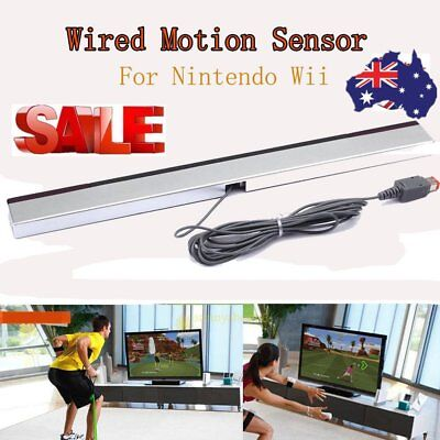 Wired Remote Infrared Ray IR Inductor Motion Sensor Bar for Nintendo Wii AU oJ