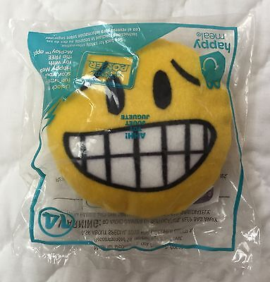MCDONALDS AHH! PLUSH Emoji #14 Yellow Circle Face Emoticon 4