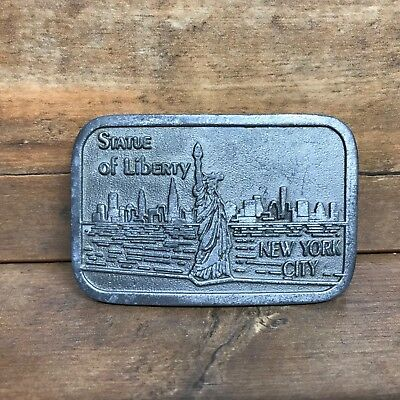 Vintage Statue of Liberty New York City Belt Buckle - Pewter - Hit Line USA