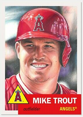 Mike Trout 2019 Topps Living Set Card #200 Limited Print Run Angels 🔥🔥🔥