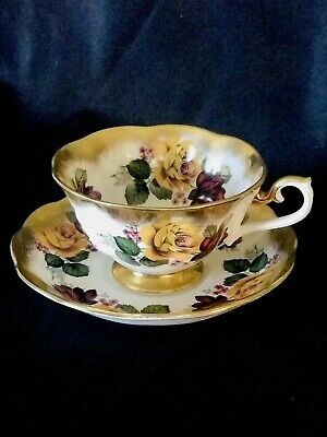 Rare Royal Albert Treasure Chest Series Teacup And Saucer Set Made In England