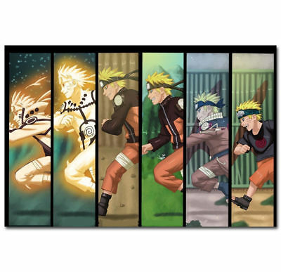 0875D Naruto Uzumaki NINJA Fighting Hot Japanese Anime-Print Art Silk Poster