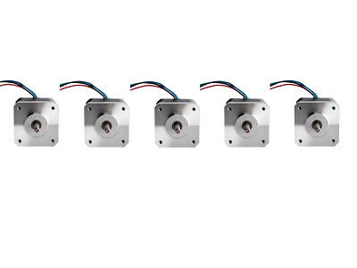 5PCS Nema17Stepper Motor 17HS8403NB 1.8° 4wires 2.5A 3.1V Dual Shaft 48mm 75oz