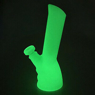 """9.5""""Portable Silicone Non-toxic Bong Hookah smoking water Pipes Glow in the dark"""